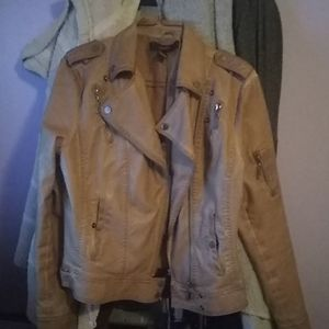 Forever 21 tan leather jacket.